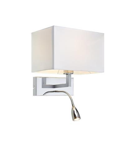SABRA 2L Chrome/White Lampa de perete
