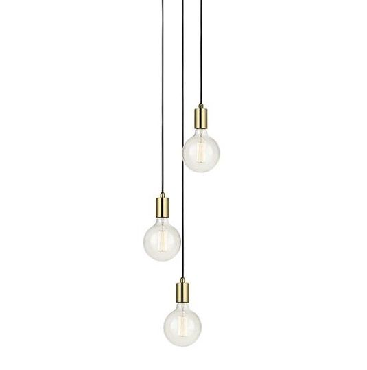 SNORRE Pendant 3L Round Brass Lampa suspendata