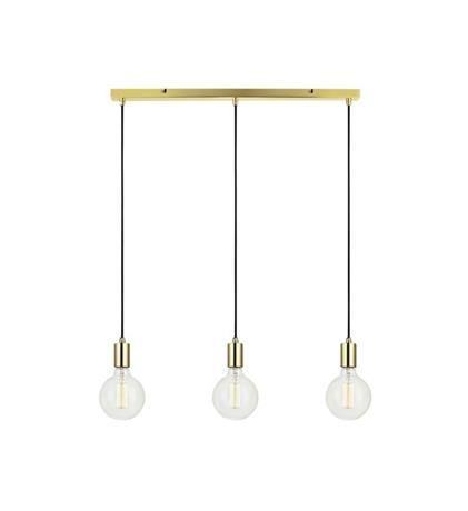 SNORRE Pendant 3L Straight Brass Lampa suspendata