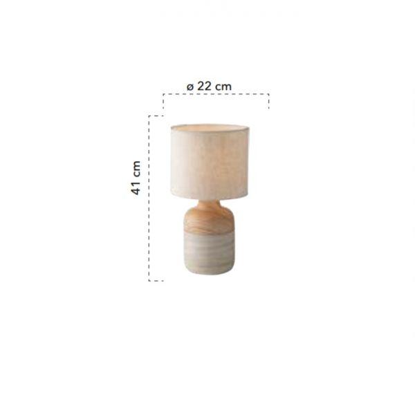Lampă de masă WOODY ø 22 cm