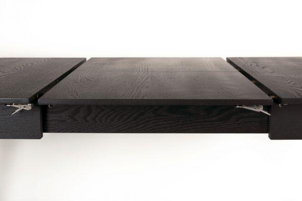 Masă extensibilă GLIMPS 120 BLACK  80x120(162) cm