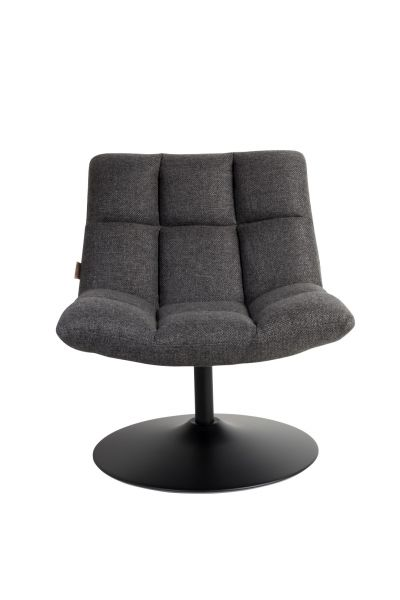 SCAUN LOUNGE BAR DARK GREY