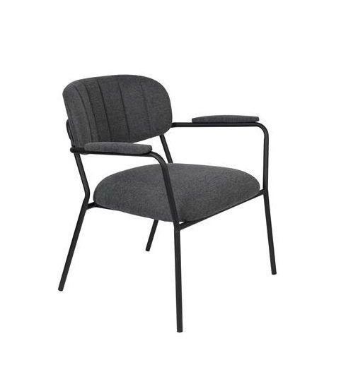 Scaun lounge JOLIEN ARM BLACK