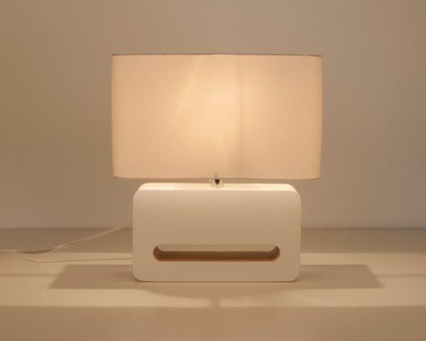 WOOD WHITE Lampă de masă