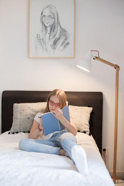 STUDY WHITE Lampă stativă