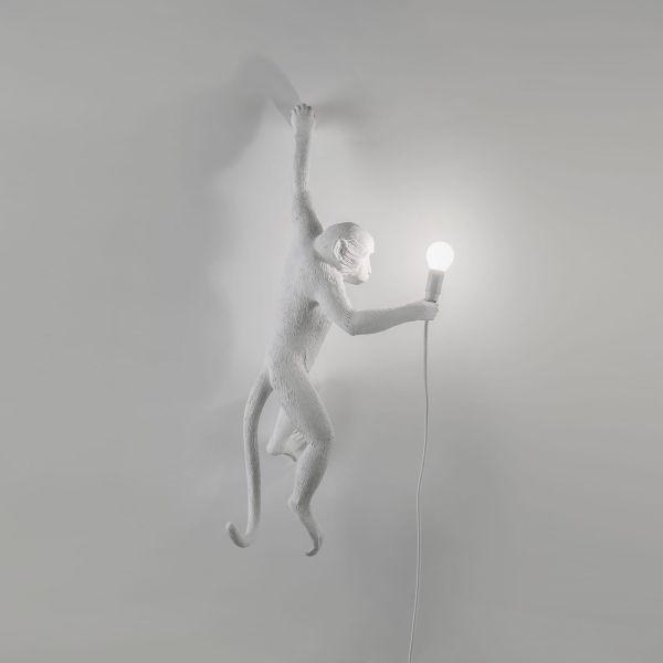 Lampă de perete interior stânga MONKEY HANGING WHITE