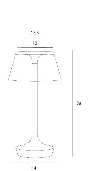 Lampă de masă LUIS DARK