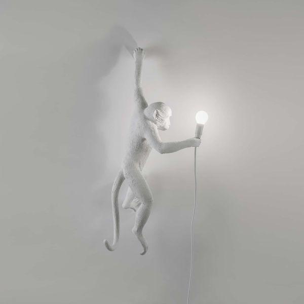 Lampă de perete exterior stânga MONKEY HANGING WHITE