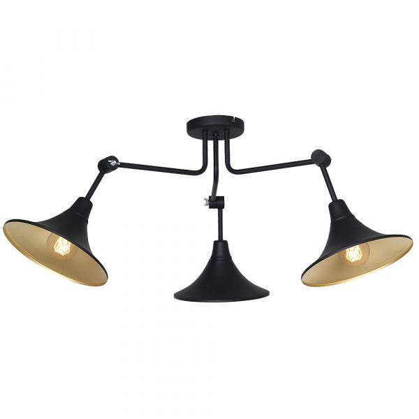 Lampă de tavan STATIKA 3 BLACK