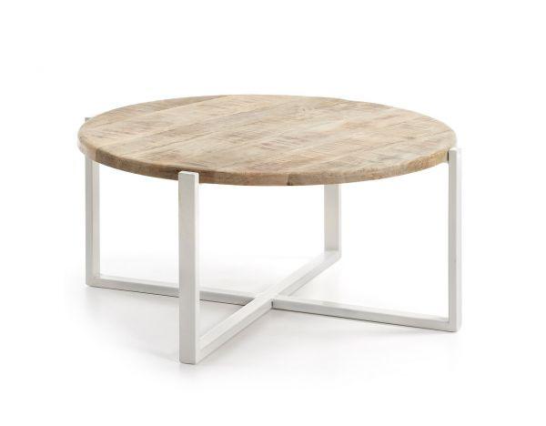 MASUTA DE CAFEA INGUNA Metal Frame Top Wood 90 cm