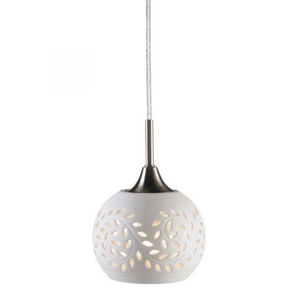 LOHALS STEEL/WHITE 1L 18cm Lampă Suspendată