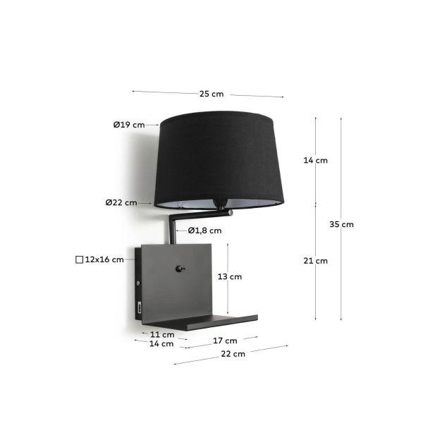 Lampa de perete NEA BLACK