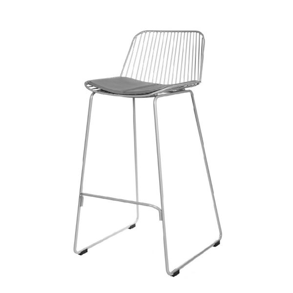 Scaun de bar OVER GREY 75cm