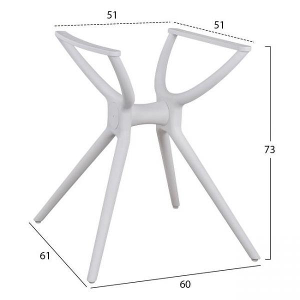 Picior masa FRENCH pentru blat 80x80 cm