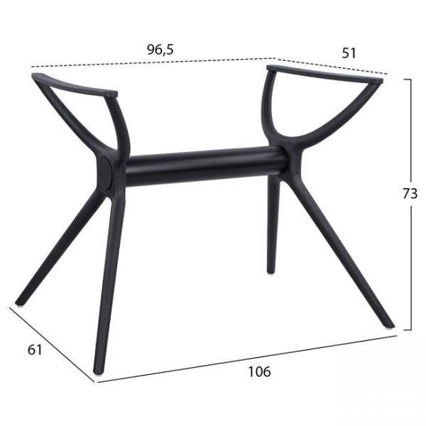 Picior masa FRENCH pentru blat 120x80 cm