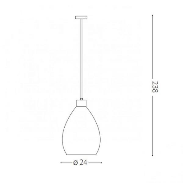 Lampă suspendată BERGEN Ø 24 cm