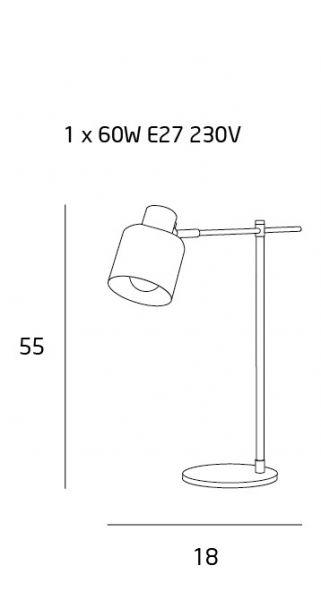 Lampă de masă LAKI BLACK