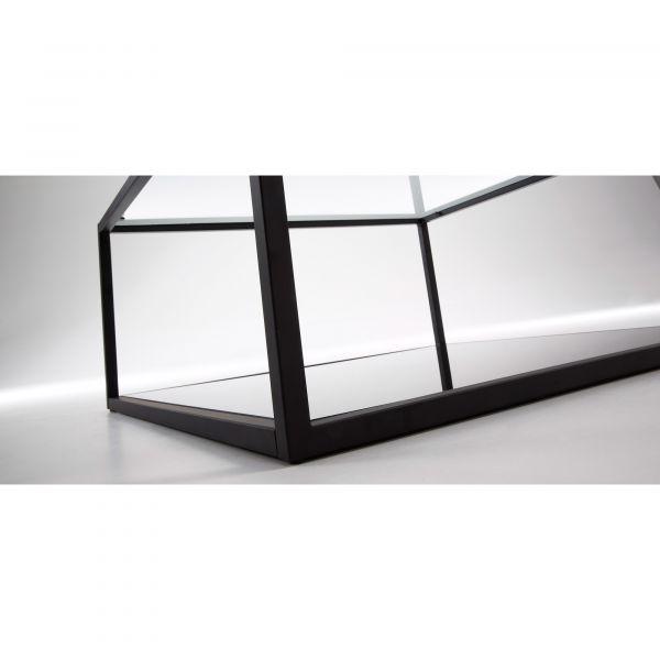 Masuta de cafea GAEL Black/clear 80x80 cm