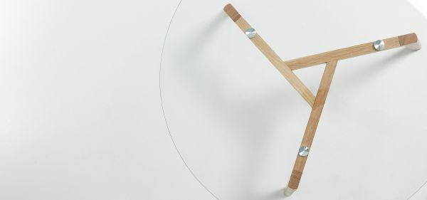Măsuță rotundă BRICK GLASS Ø90 cm