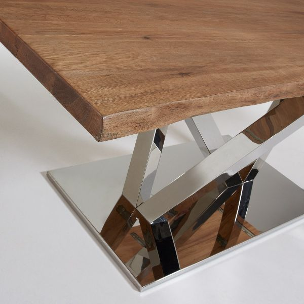 Masă GIULIONE STEEL ANTIQUE OAK 180x100 cm