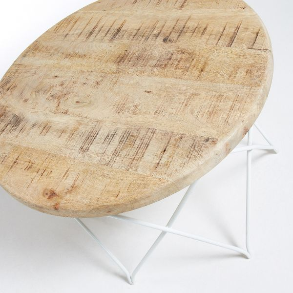 MASUTA DE CAFEA LINNA Metal Wood Natur 65 cm