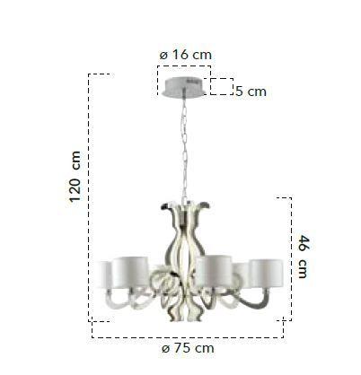 Lampă suspendată EVO 6