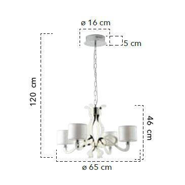 Lampă suspendată EVO 4