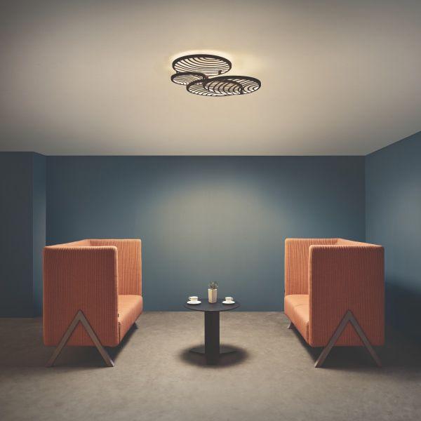 Lampă de tavan/perete COLA BLACK 4