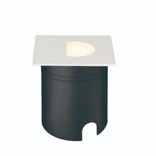 Lampă de exterior încastrată în perete AMAR SQUARE WHITE