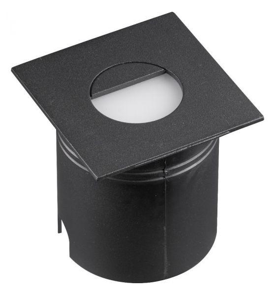 Lampă de exterior încastrată în perete AMAR SQUARE BLACK