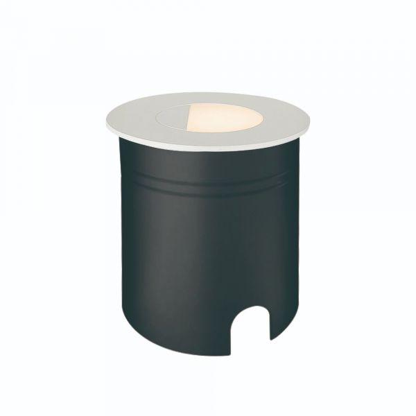 Lampă de exterior încastrată în perete AMAR ROUND WHITE