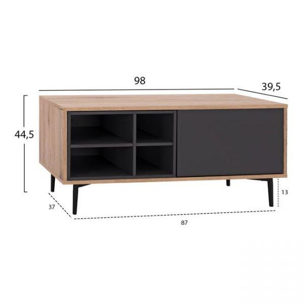 Comoda TV MAGORA 98x39,5x44,5 cm