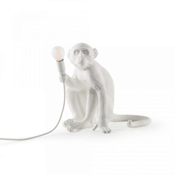 Lampă de masă exterior MONKEY SITTING WHITE