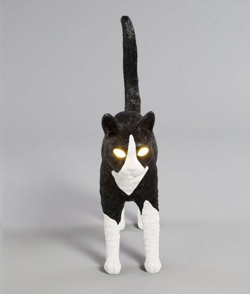 Lampă de masă JOBBY THE CAT BLACK & WHITE