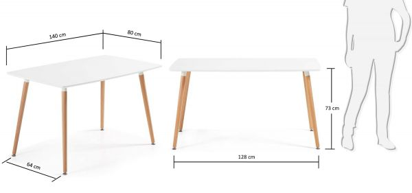 Masa DAW 140 X 80 cm