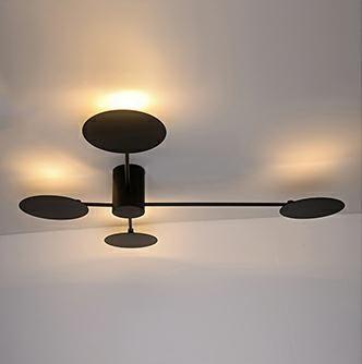 Lampă de perete / tavan DOW BLACK