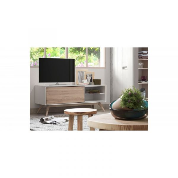 QUAD WHITE-BEIGE Cabinet TV