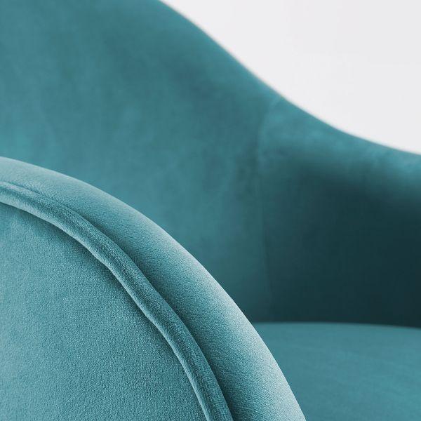 Fotoliu LADONNA VELVET Turquoise