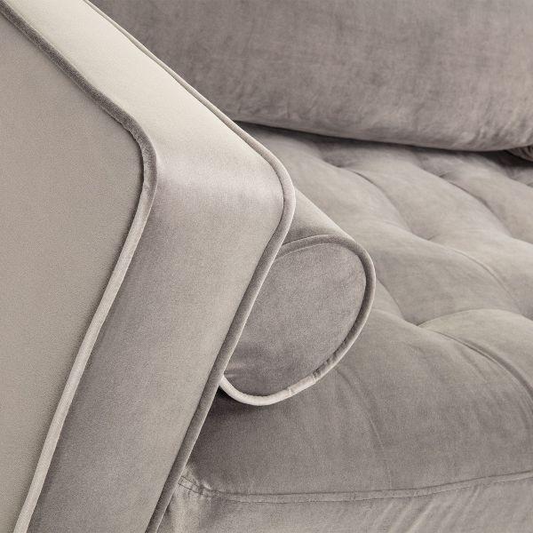 Canapea BOGARA TWO VELVET Grey