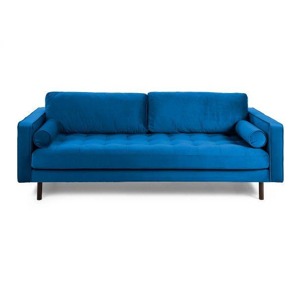 Canapea BOGARA TWO VELVET Dark blue