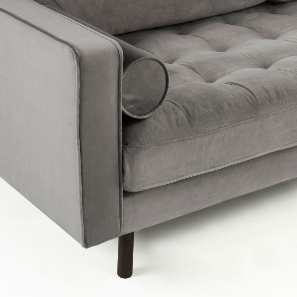 Canapea BOGARA THREE VELVET Grey