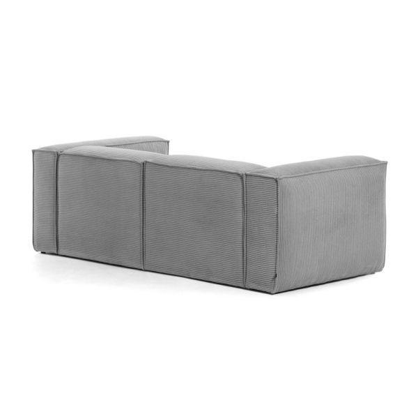 Canapea cu colț 2 locuri BLOSS VELVET GREY RIGHT