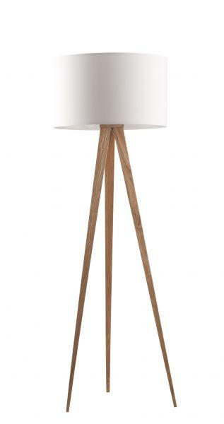 TRIPOD WOOD WHITE Lampa stativa
