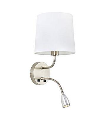NAIARA 2L Steel/White Lampa de perete