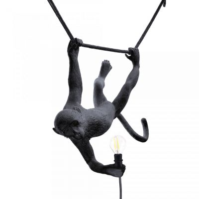 Lampă suspendată interior/exterior MONKEY SWING BLACK