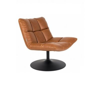 SCAUN LOUNGE BAR VINTAGE BROWN