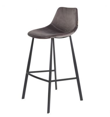 SCAUN BAR FRANKY VELVET GREY