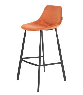 SCAUN BAR FRANKY VELVET ORANGE