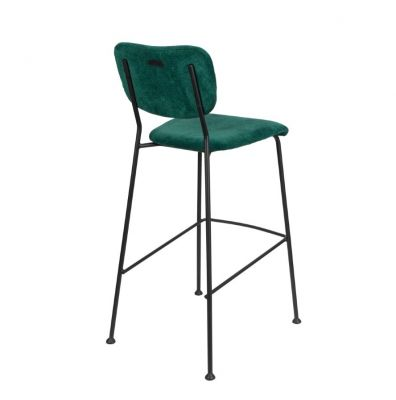 Scaun de bar BENSON GREEN H75 cm