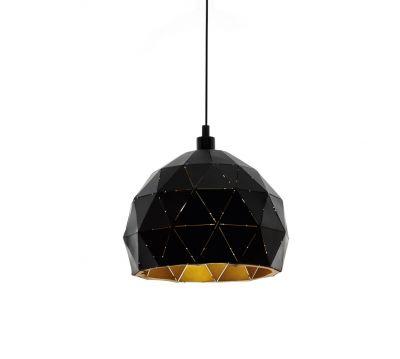 Lampă suspendată ROCCAFORTE Black/Gold 30/40 CM
